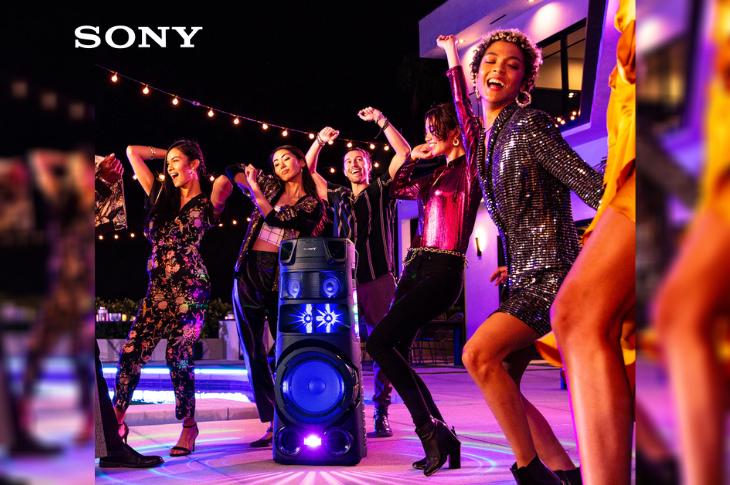 Sony Serie V sistemas de audio para fiestas al aire libre