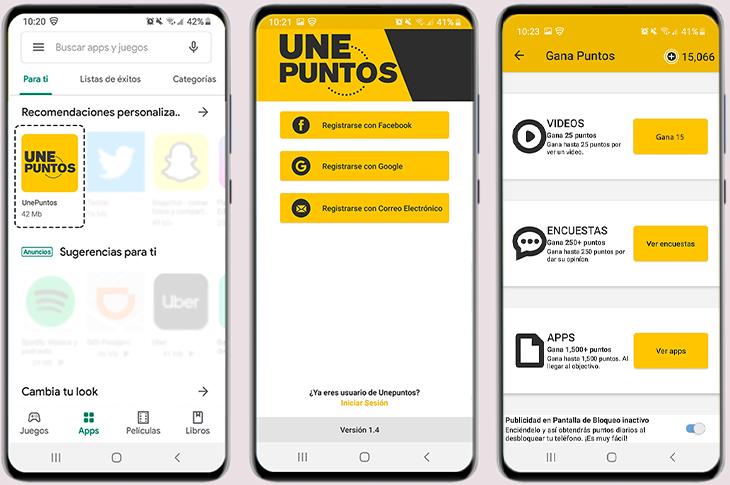 UNEPUNTOS la app para ganar megas sin recargas