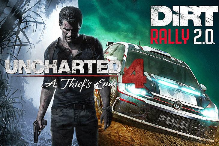 Juegos gratis de PS Plus en abril 2020 Uncharted 4 A Thief's End y Dirt Rally 2.0