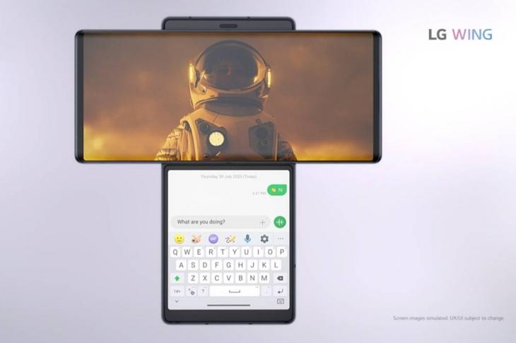 LG Wing El experimento de dos pantallas giratorias y 5G