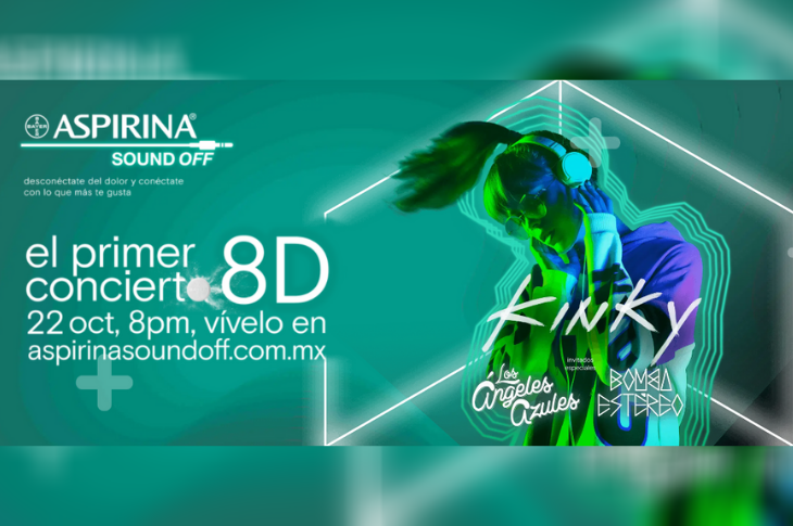 Aspirina Sound Off vive un concierto virtual 8D totalmente gratuito