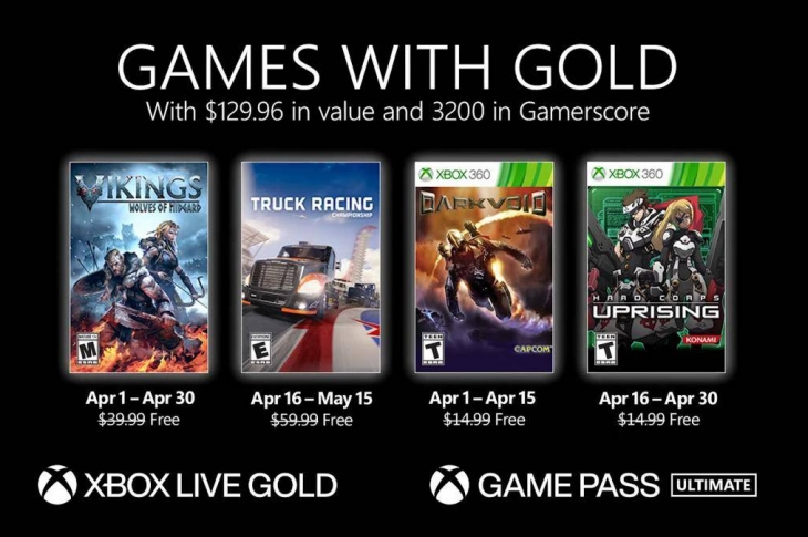Juegos gratis de Xbox en Games with Gold para abril de 2021