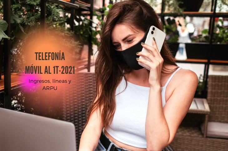 Telefonía Móvil en México al 1T-2021 ingresos, líneas y ARPU