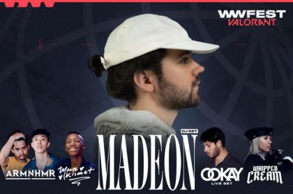 Madeon lidera el line-up del wwFest: VALORANT de Riot Games