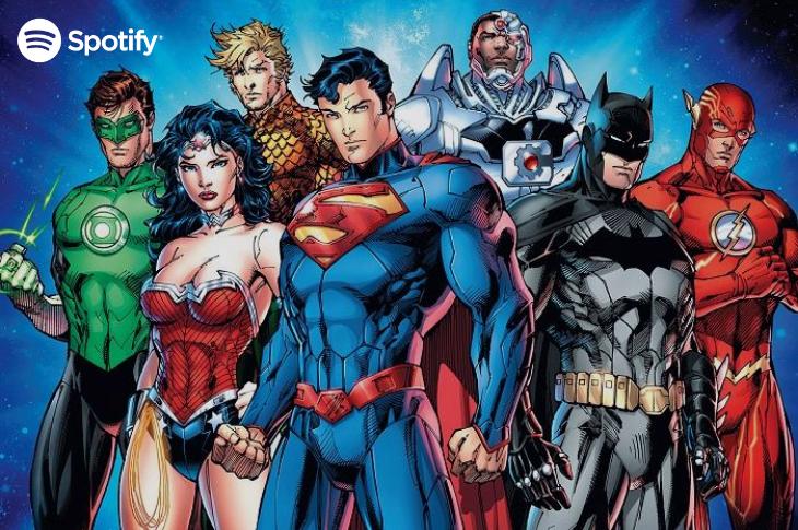 Spotify traerá a los superhéroes de DC Comics en podcasts exclusivos