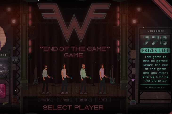 Weezer lanza videojuego de su canción The End of the Game