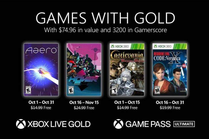 Castlevania y Code Veronica X entre los juegos de Xbox Games with Gold de octubre 2021