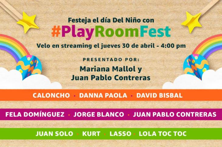 #PlayRoomFest festival virtual por el Día del Niño