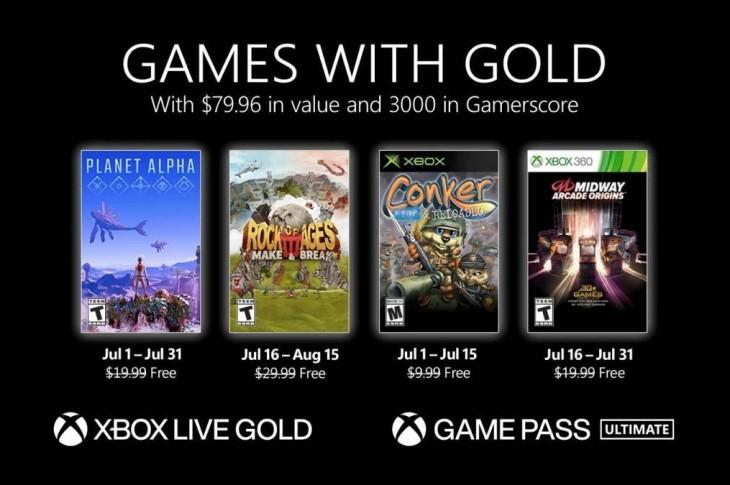 Juegos gratis de Xbox en Games with Gold para julio de 2021