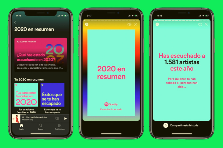 Spotify Wrapped 2020 comparte tu música más escuchada del año