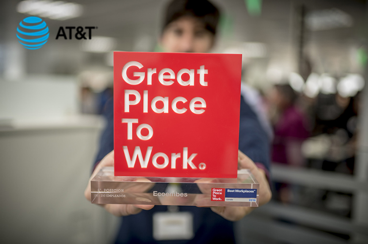 AT&T Latinoamérica en el tercer lugar en Great Place to Work