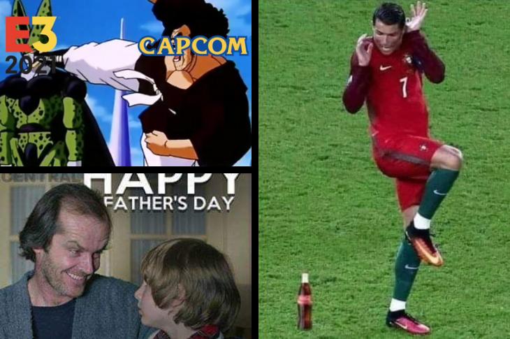 Memes de CR7 y la Coca en la Euro, Día del padre, E3 y más