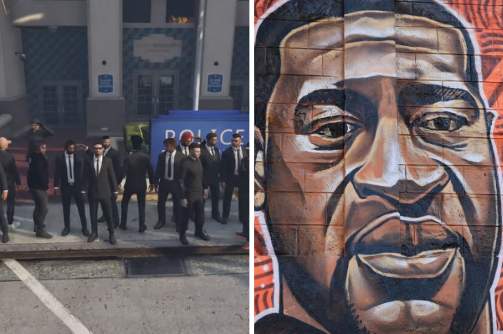 #BlackLivesMatter Jugadores en GTA Online homenajean a George Floyd