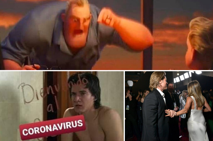 Memes del coronavirus, Brad y Jennifer, Mr. Increíble