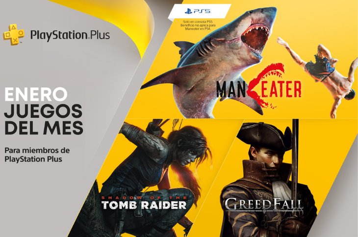 Juegos gratis de PS Plus en Enero 2021: Maneater, Shadow of the Tomb Raider y Greedfall