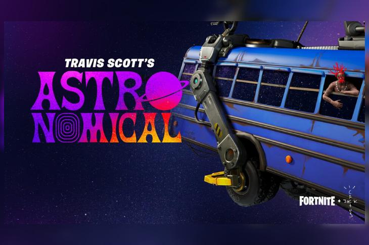Fortnite y Travis Scott presentan el evento Astronomical