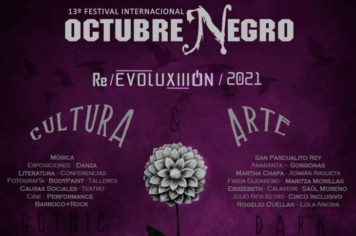 13a Edición del Festival Octubre Negro Programa de actividades 2021