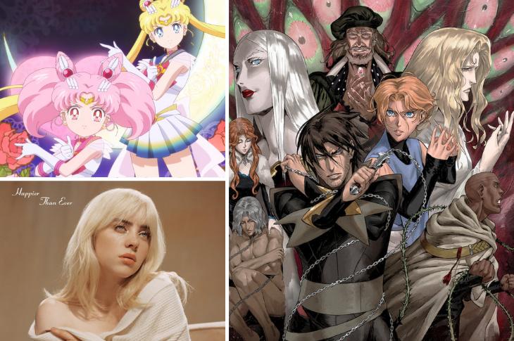 Mejores videos: Billie Eilish, Sailor Moon Eternal, Castlevania y más