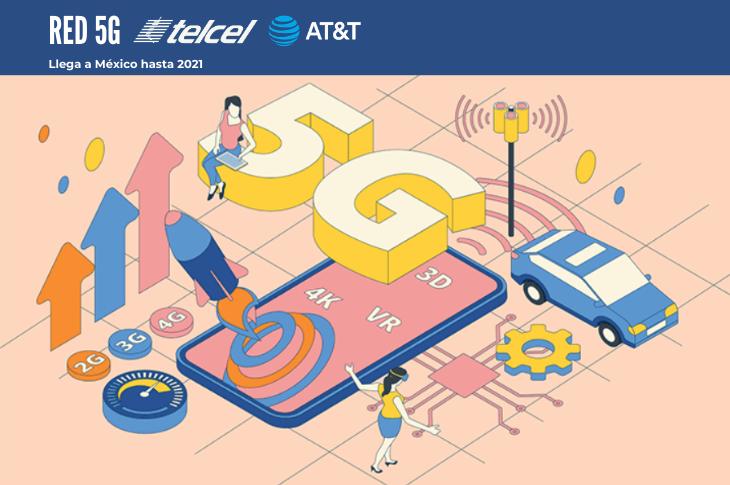 Red 5G llegaría a México en 2021 con Telcel o AT&T, según IDC