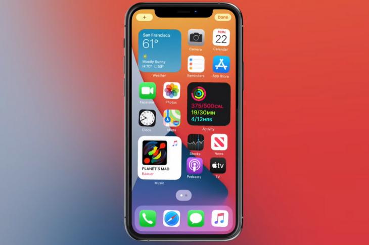 Novedades de Apple iOS 14 robadas de Android