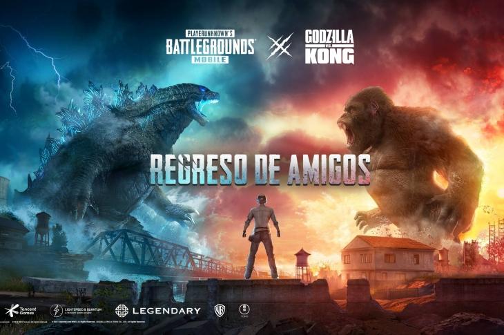 PUBG Mobile lanzará un evento con Godzilla vs Kong