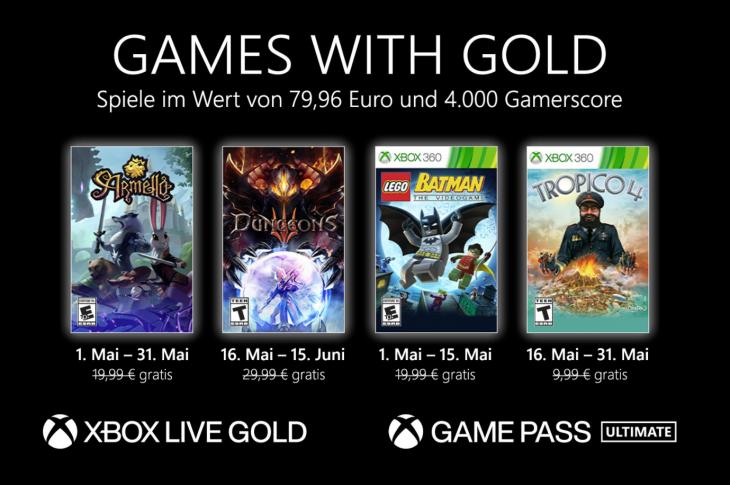 Juegos gratis de Xbox en Games with Gold para mayo de 2021