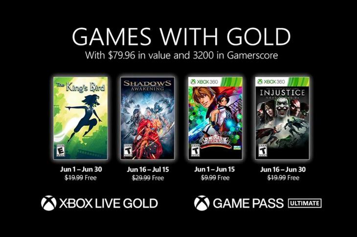 Juegos gratis de Xbox en Games with Gold para junio de 2021