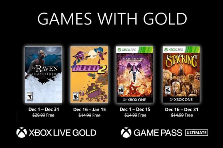 Juegos gratis de Xbox en Games with Gold para diciembre de 2020