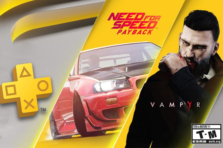 Juegos gratis de PS Plus en Octubre 2020 NFSPayback y Vampyr