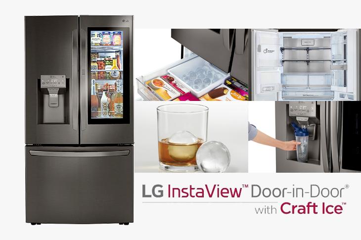 LG InstaView nuevo refrigerador inteligente Door-in-Door con Craft Ice