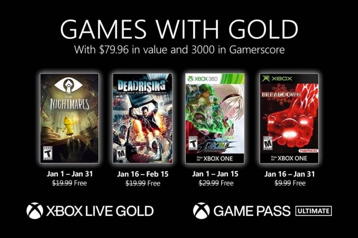 Juegos gratis de Xbox en Games with Gold para enero de 2021