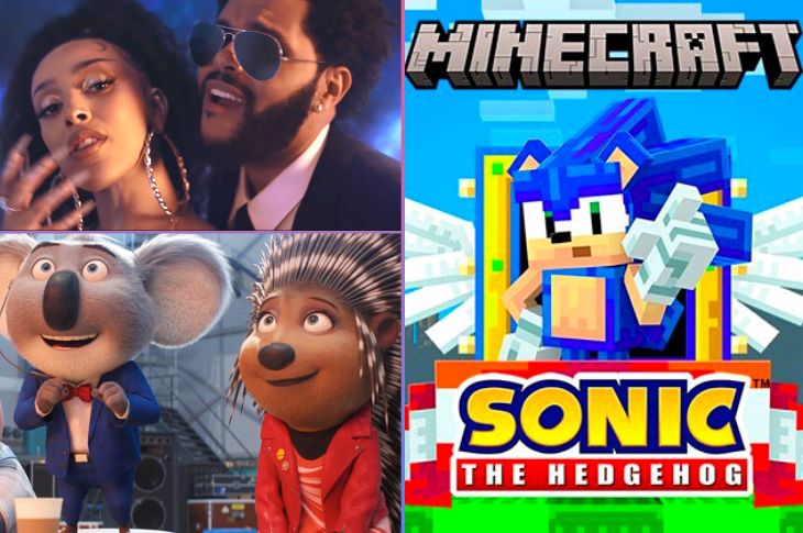Mejores videos Sing 2, Doja Cat, The Weeknd, Sonic en Minecraft y más