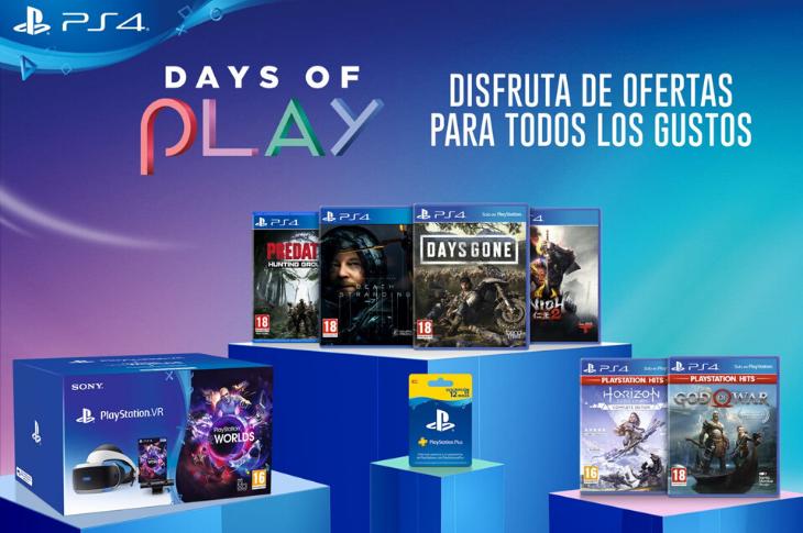 Days of Play 2020 las mejores ofertas en accesorios y juegos de PS4