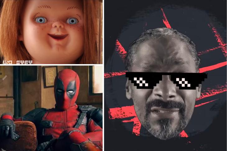 Mejores videos Snoop Dogg, Chucky, Deadpool y más