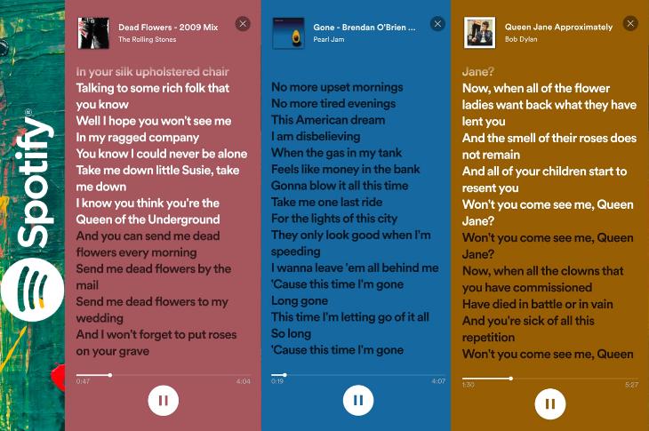 Spotify Letras canta a todo pulmón tus canciones favoritas