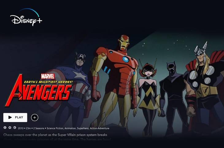 Catálogo del Universo Marvel en Disney Plus