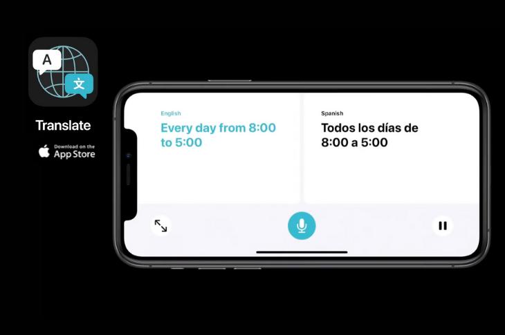 Translate app de Apple llegará junto con iOS 14