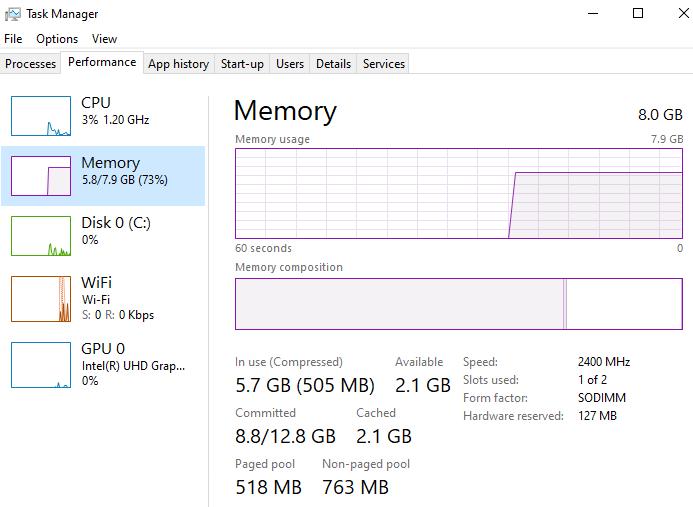 Para verificar qué tipo de RAM necesita tu máquina abre el Administrador de Tareas y ve a Rendimiento