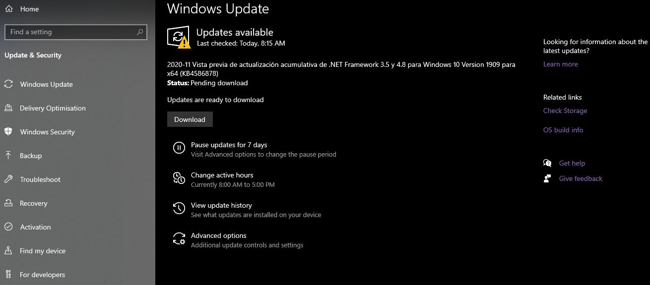 Para acelerar tu PC puedes verificar las nuevas actualizaciones de Windows.
