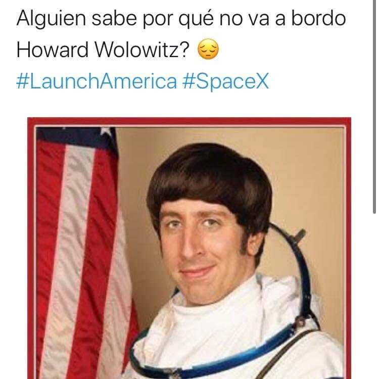 Memes del lanjzamiento de Space X