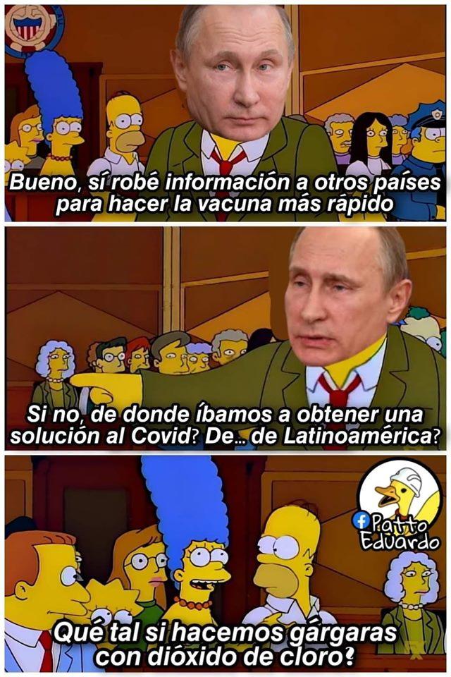 Memes de la vacuna rusa contra el coronavirus