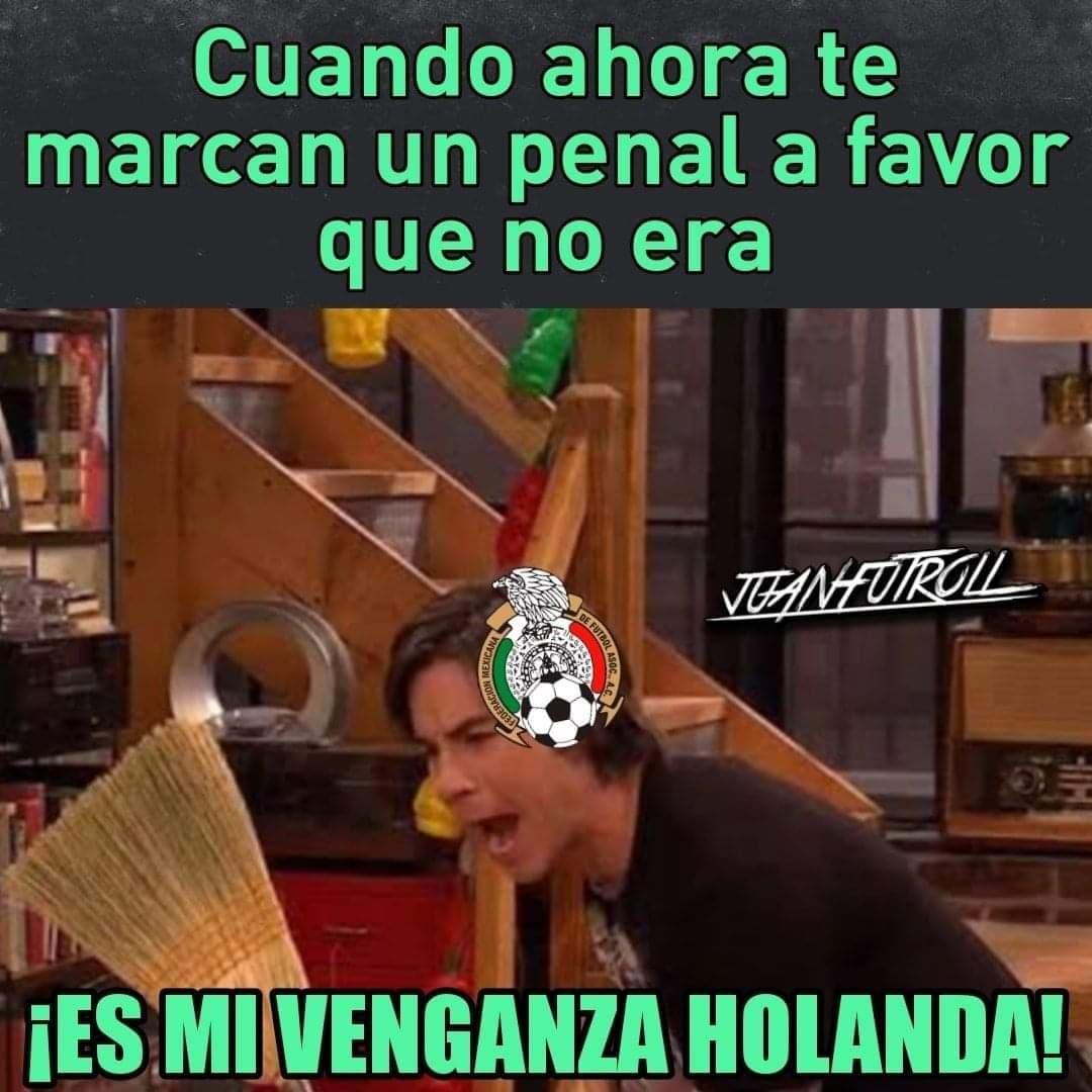Memes del México vs Holanda