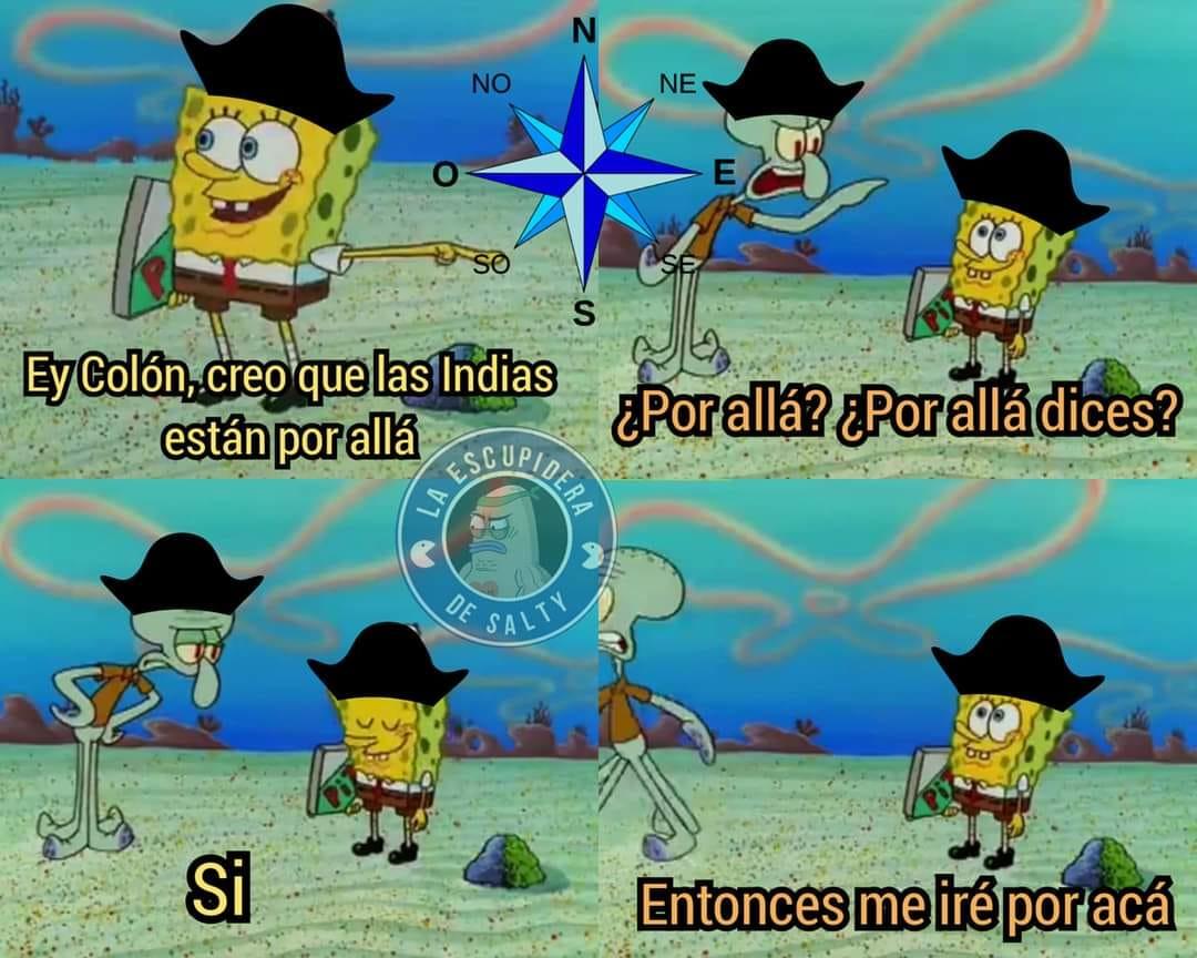 Memes de Cristobal Colón y el Día de la Raza