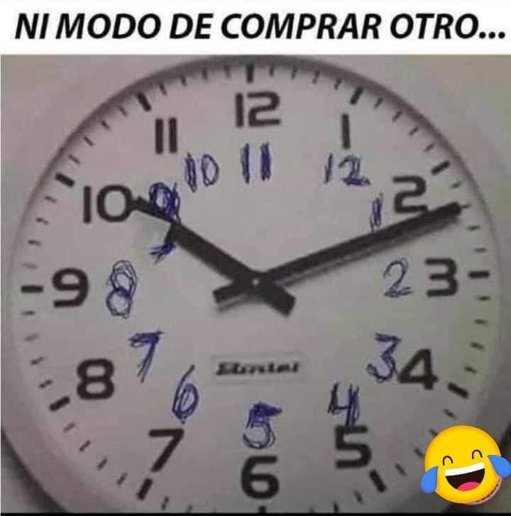 Memes del cambio de horario