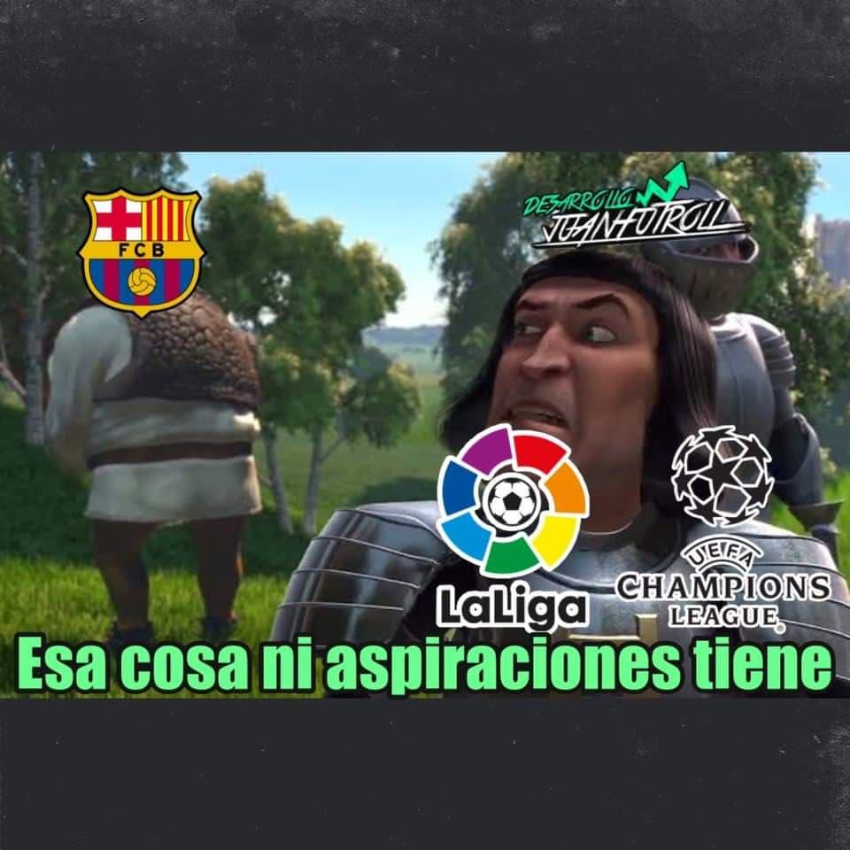 Memes del Barcelona vs Real Madrid