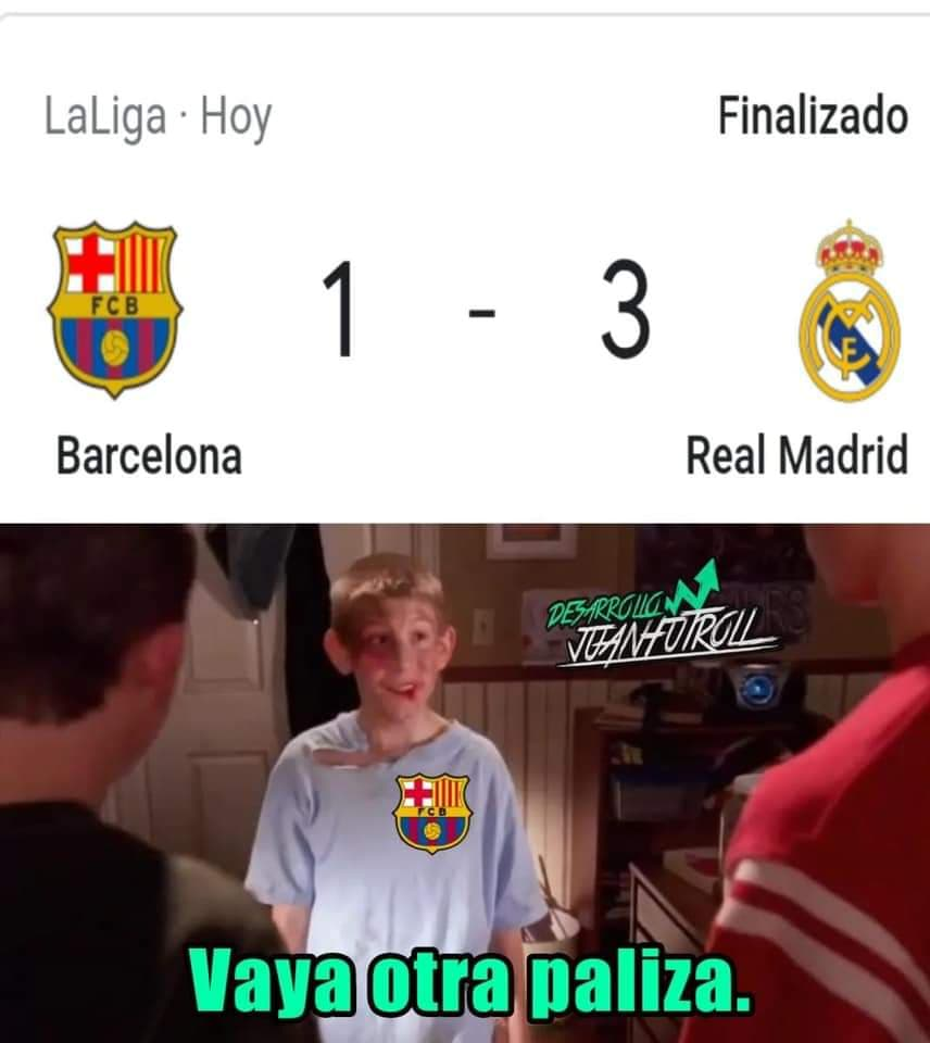 Memes del Barcelona vs Real Madrid