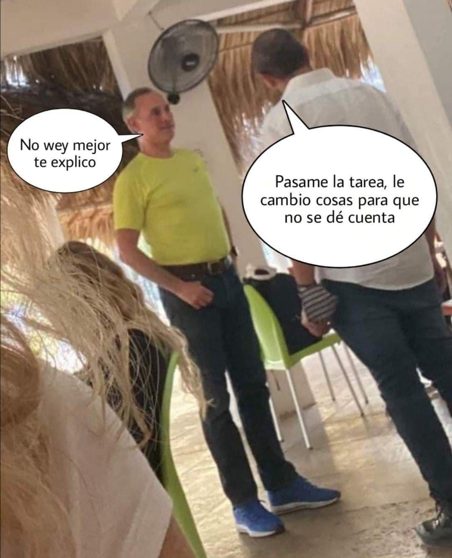 Memes de López Gatell de vacaciones