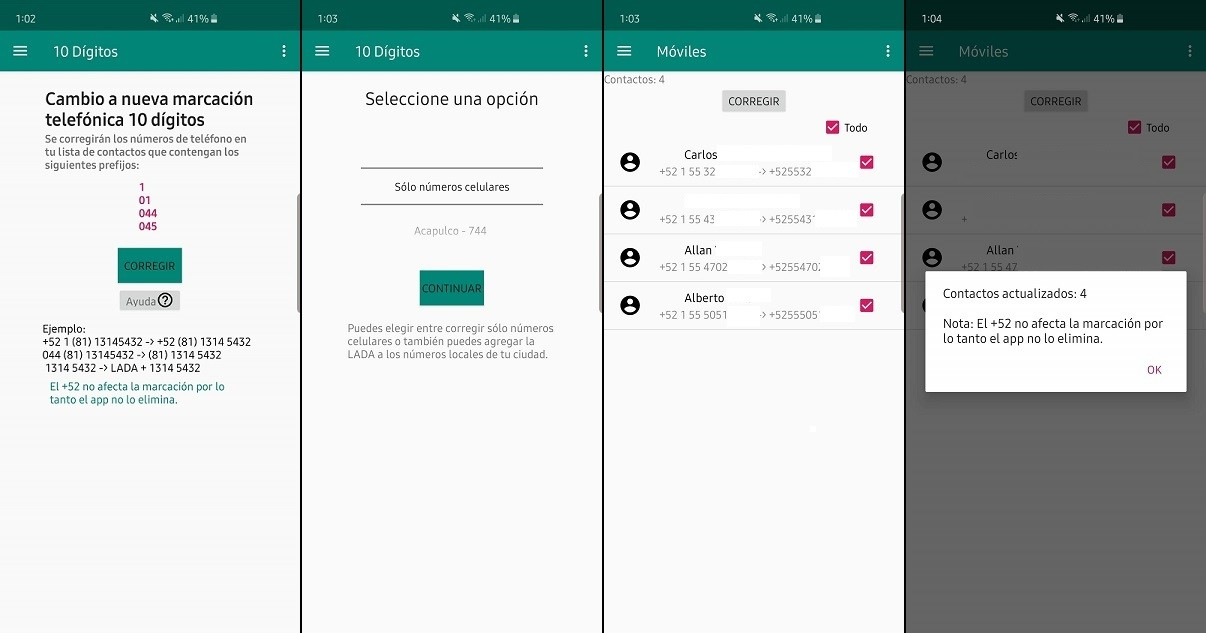 app 10 Dígitos en Android