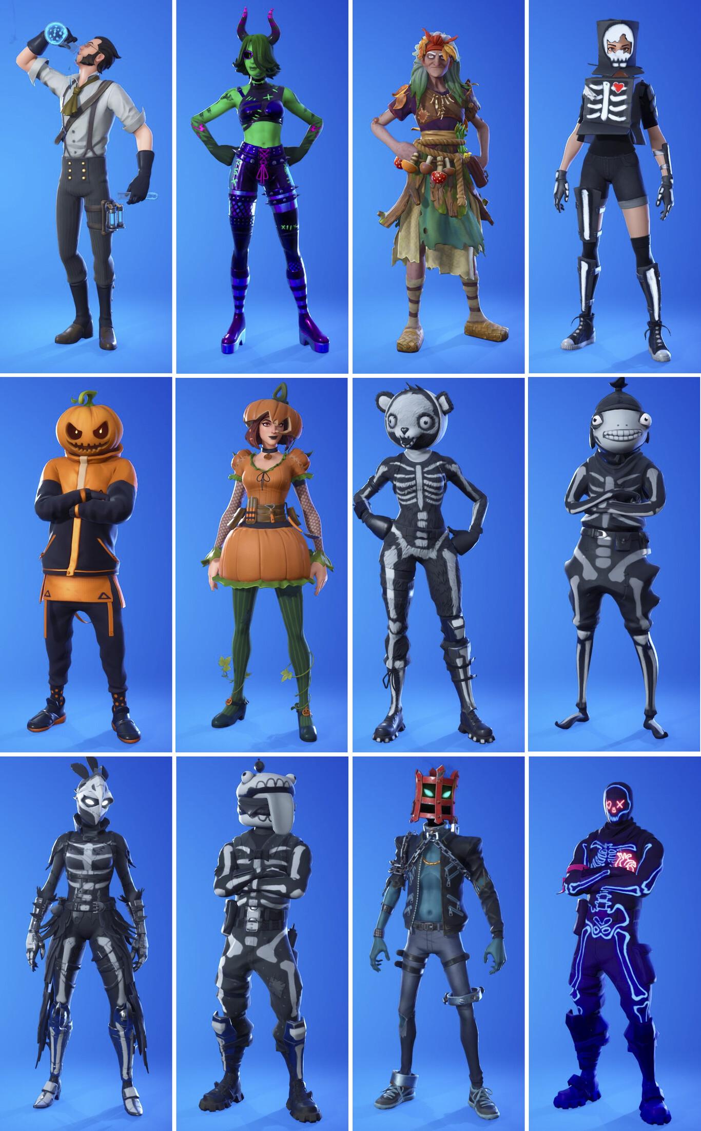 Skins Fortnitemares 2020