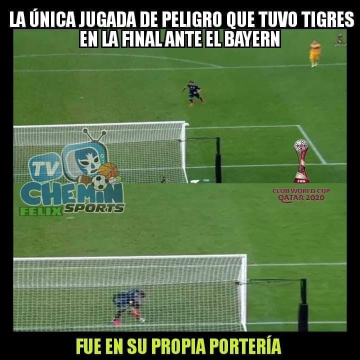 Memes de Tigres vs Bayern Munich